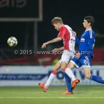 26-02-2016: Voetbal: FC Emmen v Almere City FC: Emmen (L-R) Jens Jurn Streutker (FC Emmen), Pelle van Amersfoort (Almere City FC) Jupiler League 2015 / 2016
