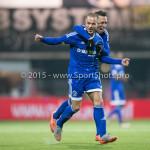 26-02-2016: Voetbal: FC Emmen v Almere City FC: Emmen (L-R) Ricardo Kip (Almere City FC), Gaston Salasiwa (Almere City FC) Jupiler League 2015 / 2016