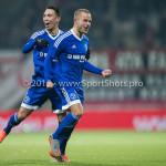 26-02-2016: Voetbal: FC Emmen v Almere City FC: Emmen (L-R) Gaston Salasiwa (Almere City FC), Ricardo Kip (Almere City FC) Jupiler League 2015 / 2016