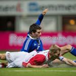 26-02-2016: Voetbal: FC Emmen v Almere City FC: Emmen (L-R) Pelle van Amersfoort (Almere City FC), Sander Rozema (FC Emmen) Jupiler League 2015 / 2016