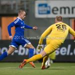 26-02-2016: Voetbal: FC Emmen v Almere City FC: Emmen (L-R) Ricardo Kip (Almere City FC), Dennis Telgenkamp (FC Emmen) Jupiler League 2015 / 2016