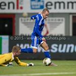 26-02-2016: Voetbal: FC Emmen v Almere City FC: Emmen (L-R) Dennis Telgenkamp (FC Emmen), Ricardo Kip (Almere City FC) Jupiler League 2015 / 2016