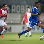26-02-2016: Voetbal: FC Emmen v Almere City FC: Emmen (L-R) Gaby Jallo (FC Emmen), Pablo Rosario (Almere City FC) Jupiler League 2015 / 2016