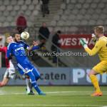 26-02-2016: Voetbal: FC Emmen v Almere City FC: Emmen (L-R) Soufyan Ahannach (Almere City FC), Dennis Telgenkamp (FC Emmen) Jupiler League 2015 / 2016