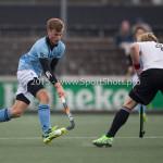 06-03-2016: Hockey: Amsterdam v HGC: Amsterdam Jorrit Croon (HGC), Klaas Vermeulen (Amsterdam) Hoofdklasse Heren 2015 / 2016