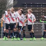 06-03-2016: Hockey: Amsterdam v HGC: Amsterdam Jan Willem Buissant (Amsterdam), Billy Bakker (Amsterdam), Valentin Verga (Amsterdam), Klaas Vermeulen (Amsterdam), Robert Tigges (Amsterdam) Hoofdklasse Heren 2015 / 2016