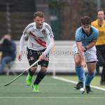 06-03-2016: Hockey: Amsterdam v HGC: Amsterdam (L-R) Robert Tigges (Amsterdam), Tristan Algera (HGC) Hoofdklasse Heren 2015 / 2016