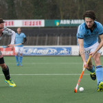 06-03-2016: Hockey: Amsterdam v HGC: Amsterdam Wouter Rens (Amsterdam), Tom Hiebendaal (HGC) Hoofdklasse Heren 2015 / 2016