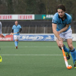 6-03-2016: Hockey: Amsterdam v HGC: Amsterdam Wouter Rens (Amsterdam), Tom Hiebendaal (HGC) Hoofdklasse Heren 2015 / 2016