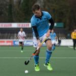 06-03-2016: Hockey: Amsterdam v HGC: Amsterdam (L-R) Johannes Mooij (Amsterdam), Ben Arnold (HGC) Hoofdklasse Heren 2015 / 2016