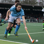 06-03-2016: Hockey: Amsterdam v HGC: Amsterdam Tom Hiebendaal (HGC) Hoofdklasse Heren 2015 / 2016