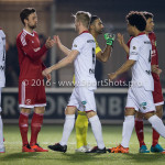 14-03-2016: Voetbal: Almere City FC v Sparta Rotterdam: Almere (L-R) Kaj Ramsteijn (Almere City FC), Mart Dijkstra (Sparta Rotterdam) Jupiler League 2015 / 2016