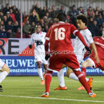 14-03-2016: Voetbal: Almere City FC v Sparta Rotterdam: Almere (L-R) Ryan Sanusi (Sparta Rotterdam), Pelle van Amersfoort (Almere City FC) Jupiler League 2015 / 2016