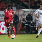 14-03-2016: Voetbal: Almere City FC v Sparta Rotterdam: Almere (L-R) Enzio Boldewijn (Almere City FC), Ryan Sanusi (Sparta Rotterdam) Jupiler League 2015 / 2016