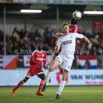 14-03-2016: Voetbal: Almere City FC v Sparta Rotterdam: Almere (L-R) Rick Ketting (Sparta Rotterdam), Pelle van Amersfoort (Almere City FC) Jupiler League 2015 / 2016