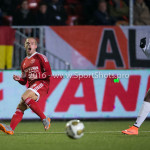 14-03-2016: Voetbal: Almere City FC v Sparta Rotterdam: Almere (L-R) Ricardo Kip (Almere City FC), Sherel Floranus (Sparta Rotterdam) Jupiler League 2015 / 2016