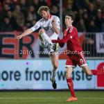 14-03-2016: Voetbal: Almere City FC v Sparta Rotterdam: Almere (L-R) Michel Breuer (Sparta Rotterdam), Pelle van Amersfoort (Almere City FC) Jupiler League 2015 / 2016