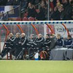 14-03-2016: Voetbal: Almere City FC v Sparta Rotterdam: Almere (L-R) Marco Heering - Assistent trainer (Almere City FC), Jack de Gier - Hoofdtrainer (Almere City FC) Jupiler League 2015 / 2016