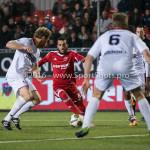 14-03-2016: Voetbal: Almere City FC v Sparta Rotterdam: Almere (L-R) Michel Breuer (Sparta Rotterdam), Soufyan Ahannach (Almere City FC) Jupiler League 2015 / 2016