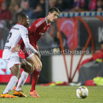 14-03-2016: Voetbal: Almere City FC v Sparta Rotterdam: Almere (L-R) Denzel Dumfries (Sparta Rotterdam), Pelle van Amersfoort (Almere City FC) Jupiler League 2015 / 2016