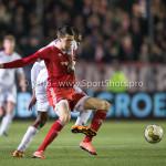 14-03-2016: Voetbal: Almere City FC v Sparta Rotterdam: Almere (L-R) Khalid Tadmine (Almere City FC), Denzel Dumfries (Sparta Rotterdam) Jupiler League 2015 / 2016