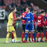 18-03-2016: Voetbal: Helmond Sport v Almere City FC: Helmond (L-R) Agil Etemadi (Almere City FC), Kaj Ramsteijn (Almere City FC) Jupiler League 2015 / 2016