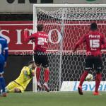 18-03-2016: Voetbal: Helmond Sport v Almere City FC: Helmond Agil Etemadi (Almere City FC), afgekeurd doelpunt Jupiler League 2015 / 2016