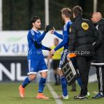 18-03-2016: Voetbal: Helmond Sport v Almere City FC: Helmond (L-R) Paul Quasten  (Almere City FC), Javier Vet (Almere City FC), Jupiler League 2015 / 2016