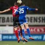 18-03-2016: Voetbal: Helmond Sport v Almere City FC: Helmond (L-R) Steven Edwards (Helmond Sport), Pelle van Amersfoort (Almere City FC) Jupiler League 2015 / 2016