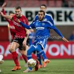 18-03-2016: Voetbal: Helmond Sport v Almere City FC: Helmond (L-R) Wouter van der Steen (Helmond Sport), Soufyan Ahannach (Almere City FC) Jupiler League 2015 / 2016