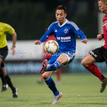 18-03-2016: Voetbal: Helmond Sport v Almere City FC: Helmond (L-R) Gaston Salasiwa (Almere City FC), Kevin Visser (Helmond Sport) Jupiler League 2015 / 2016