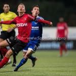 18-03-2016: Voetbal: Helmond Sport v Almere City FC: Helmond (L-R) Kevin Visser (Helmond Sport), Gaston Salasiwa (Almere City FC) Jupiler League 2015 / 2016