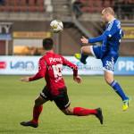 18-03-2016: Voetbal: Helmond Sport v Almere City FC: Helmond (L-R) Mounir El Allouchi (Helmond Sport), Kees van Buuren (Almere City FC) Jupiler League 2015 / 2016
