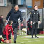 18-03-2016: Voetbal: Helmond Sport v Almere City FC: Helmond (L-R) Mounir El Allouchi (Helmond Sport), Jack de Gier - Hoofdtrainer (Almere City FC) Jupiler League 2015 / 2016