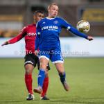 18-03-2016: Voetbal: Helmond Sport v Almere City FC: Helmond (L-R) Gillian Justiana (Helmond Sport), Ricardo Kip (Almere City FC) Jupiler League 2015 / 2016