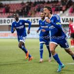 18-03-2016: Voetbal: Helmond Sport v Almere City FC: Helmond (L-R) Enzio Boldewijn (Almere City FC), Soufyan Ahannach (Almere City FC), Jason Oost (Almere City FC) Jupiler League 2015 / 2016