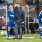 18-03-2016: Voetbal: Helmond Sport v Almere City FC: Helmond (L-R) Kees van Buuren (Almere City FC), Jack de Gier - Hoofdtrainer (Almere City FC) Jupiler League 2015 / 2016