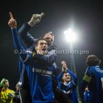 18-03-2016: Voetbal: Helmond Sport v Almere City FC: Helmond (L-R) Pelle van Amersfoort (Almere City FC), Roy Pistoor  (Almere City FC) Jupiler League 2015 / 2016