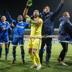 18-03-2016: Voetbal: Helmond Sport v Almere City FC: Helmond (L-R) Agil Etemadi (Almere City FC), Paul Quasten  (Almere City FC) Jupiler League 2015 / 2016