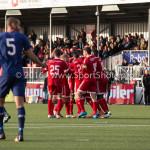 29-04-2016: Voetbal: Almere City FC v Jong PSV: Almere Celebrating 1 - 0 Jupiler League 2015 / 2016