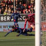 29-04-2016: Voetbal: Almere City FC v Jong PSV: Almere (L-R) Suently Alberto (Jong PSV), Jason Oost (Almere City FC) Jupiler League 2015 / 2016