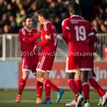 29-04-2016: Voetbal: Almere City FC v Jong PSV: Almere Jason Oost (Almere City FC) 3 - 0 Jupiler League 2015 / 2016
