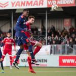 29-04-2016: Voetbal: Almere City FC v Jong PSV: Almere (L-R) ,Suently Alberto (Jong PSV), Kaj Ramsteijn (Almere City FC) Jupiler League 2015 / 2016
