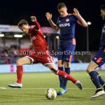 29-04-2016: Voetbal: Almere City FC v Jong PSV: Almere Tim Receveur (Almere City FC) Jupiler League 2015 / 2016