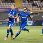 05-08-2016: Voetbal: FC Volendam v Almere City FC: Volendam (L-R) Gaston Salasiwa (Almere City FC), Tom Overtoom (Almere City FC) Jupiler League 2016 / 2017