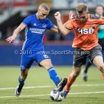 05-08-2016: Voetbal: FC Volendam v Almere City FC: Volendam (L-R) Silvester van de Water (Almere City FC), Paul Kok (FC Volendam) Jupiler League 2016 / 2017