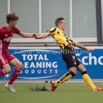 13-08-2016: Voetbal: Jong Almere City FC v Rijnsburgse Boys: Almere (L-R) Maarten Davids (Almere City FC), Jeffrey Jongeneelen (Rijnsburgse Boys) 3de divisie zaterdag 2016 /2017
