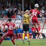 13-08-2016: Voetbal: Jong Almere City FC v Rijnsburgse Boys: Almere (L-R) Hidde Prijs (Rijnsburgse Boys), Daan Ibrahim (Jong Almere City FC) 3de divisie zaterdag 2016 /2017