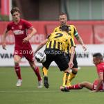 13-08-2016: Voetbal: Jong Almere City FC v Rijnsburgse Boys: Almere (L-R) Roderick Gielisse (Rijnsburgse Boys), Daan Ibrahim (Jong Almere City FC) /h