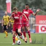 13-08-2016: Voetbal: Jong Almere City FC v Rijnsburgse Boys: Almere (L-R) Maarten Davids (Almere City FC), Daan Ibrahim (Jong Almere City FC) 3de divisie zaterdag 2016 /2017